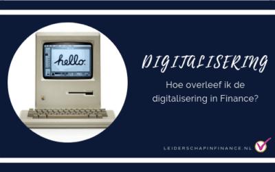 Hoe overleef ik de digitalisering in finance?