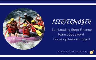 Een Leading Edge Finance team opbouwen? Focus op leervermogen!